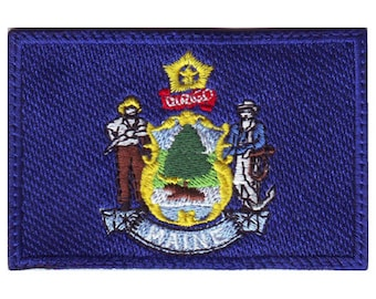 Maine Flag Embroidered Patch