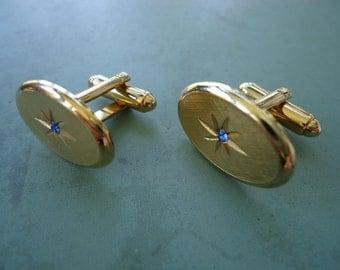 Avon Blue Stone Cufflinks