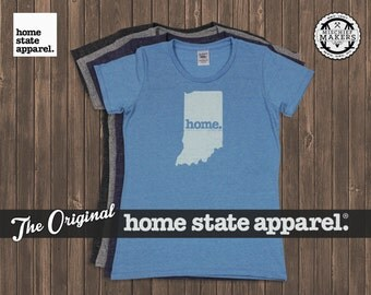 Indiana Home. T-shirt- Womens Cut