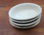 White English Ironstone Soap Dishes / Vintage Ironstone / Alfred Meakin / Perfect Hostess Gift!