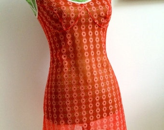 SOLD Tangerine Dream 1960s,  Transparent Underdress *Free shipping*