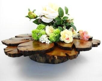 6 en bois cake stand stand de bouleau socle bois par daliaswoodland. Black Bedroom Furniture Sets. Home Design Ideas