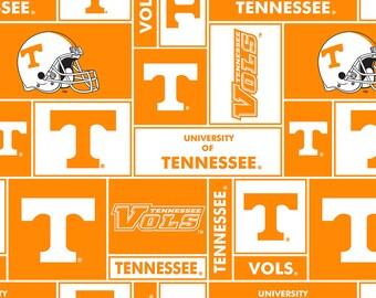 University of Tennessee Volunteers Vols Cotton Fabric 1 Yard Sports Team 100% Cotton