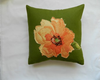 charming hand stitched pillow