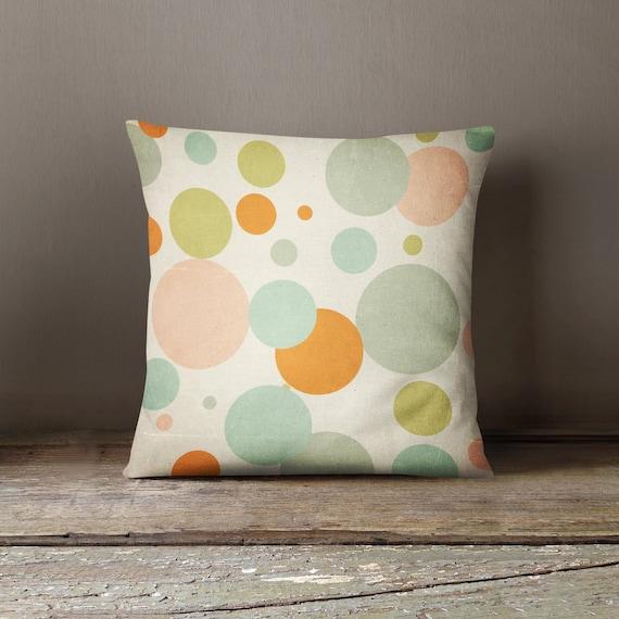 Decorative Pillows With Circles : Random Circles Decorative Pillow Custom plush pillow throw