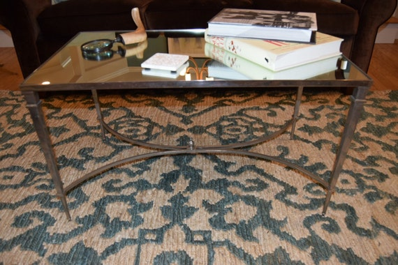 Hollywood Regency Style Mirrored Coffee Table  - GC