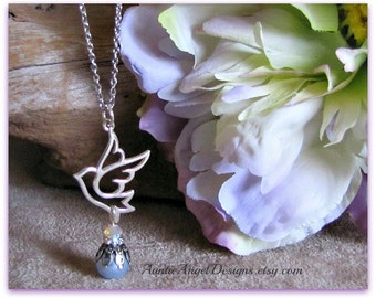 Guardian Angel Father Necklace; Loss of Dad Jewelry; Father in Heaven; Father Sympathy Necklace; In Remembrance of Dad; Dad Sympathy Gifts