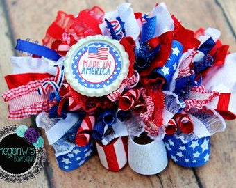 Hair bow, Made in America Funky Loopy Bow