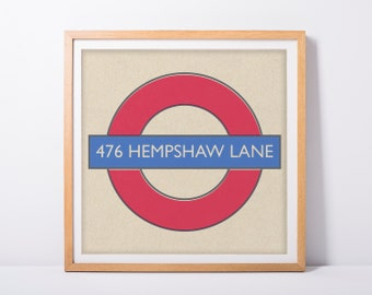 Sale! Personalised Vintage London Underground Sign