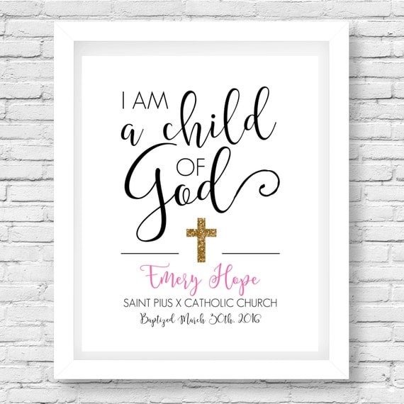 Baptism Gift Printable // Confirmation Gift // Scripture Quote