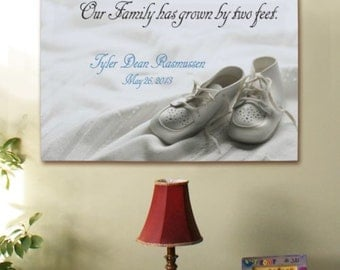 Personalized New Baby Canvas Wall Art - Family Has Grown