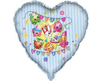 Shopkins Heart Shaped Balloon