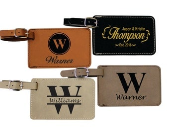 Personalized Leather Luggage Tag, Luggage Tags Personalized, Custom Luggage Tag, Monogram Luggage Tag, Engraved Luggage Tag, Luggage Tags