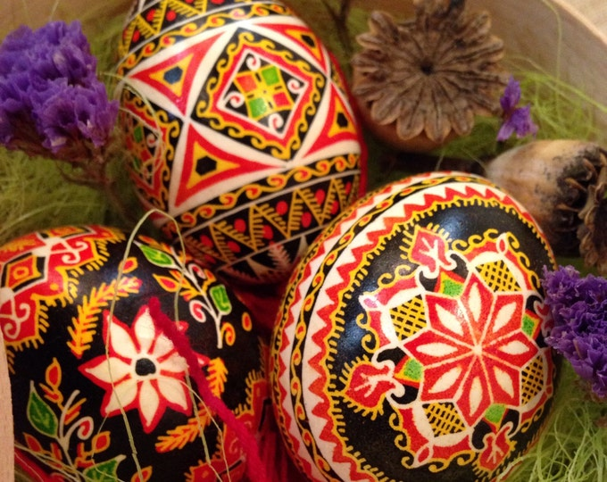 Traditional Ukrainian Pysanka - an Easter egg