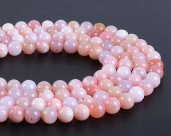 "6MM324 Peruvian Pink Opal round ball loose gemstone beads 16"""