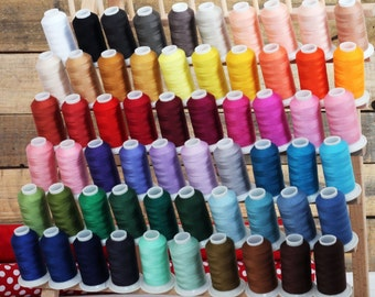 Sewing Thread Set - Mini-King Cones Of Spun Polyester In 60 Different Colors