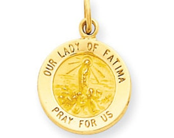 Our Lady of Fatima Medal Charm (JC-873)