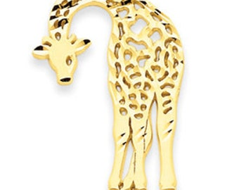 Diamond Cut Giraffe Charm (JC-054)