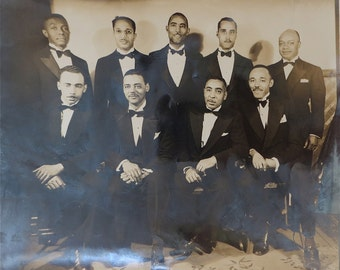 "1920's African American Black Men In Tuxedos Fraternal 10"" x 8"" Photo - Free Shipping"