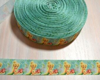 1 inch Grosgrain Ribbon - Tinkerbell