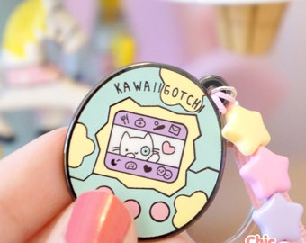 Lovely Tamagotchi Kawaiigotchi kitty cat key chain cute kawaii game retro vintage toys nostalgia