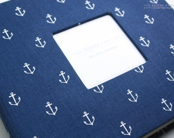 Free shipping. Navy Nautical Anchors MODERN Baby Book. Baby Keepsake. Baby memory book. toddler keepsake. baby journals