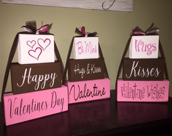 Valentine's block set