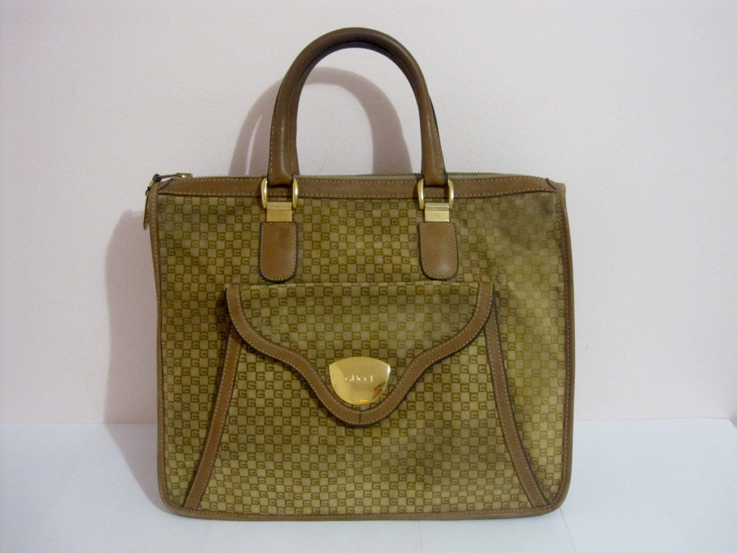116d153c13b5 Gucci Vintage Leather Tote Bag | Stanford Center for Opportunity ...