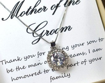 Mother in law gift Mother of the Groom Gift from bride Mother of Groom gift set wedding jewelry bridesmaid gifts sister in law grandmother