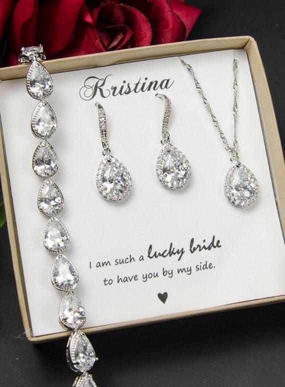 Wedding Jewelry Set ,Bridesmaid Gift, Bridesmaid Jewelry Set ...