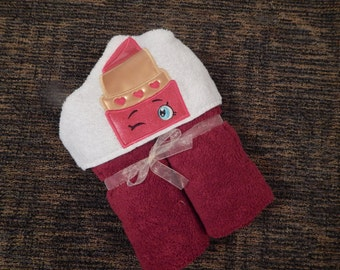 Personalized Lipstick Hooded Towel