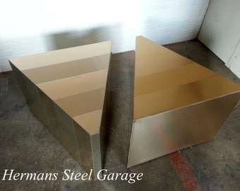 Paul Evans style Triangular End Tables(Pair)