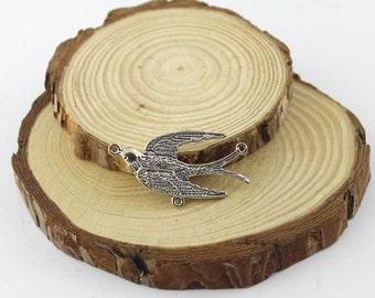 5pcs 20x37mm Antique silver Cute bird Pendants