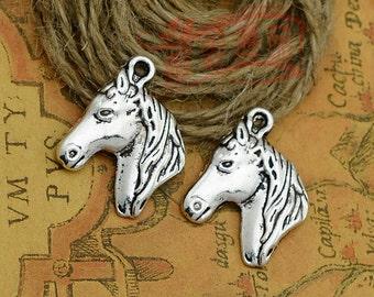 10pcs 28x22mm Ancient silver horse Charm Pendant