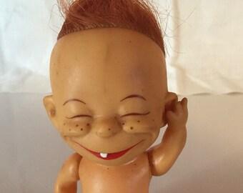 "1960s Vintage Shiba Doll, One Tooth Freaky ""Brat""Doll"