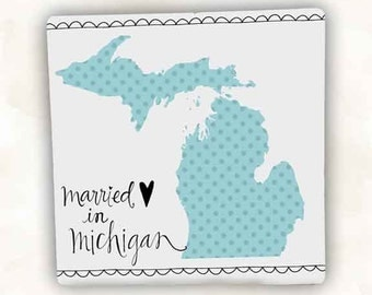 Married in Michigan Coaster