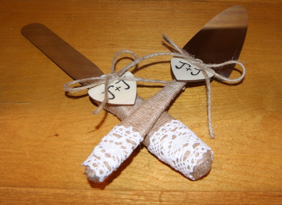 Wedding Gifts For Country Couple : Gift for Couple / Rustic Wedding Cake Serving Set / Personalized ...
