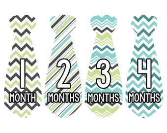 Monthly Tie Stickers Boy Month Stickers Monthly Baby Stickers Monthly Milestone Stickers Baby Month Baby Stickers Bodysuit Sticker 729