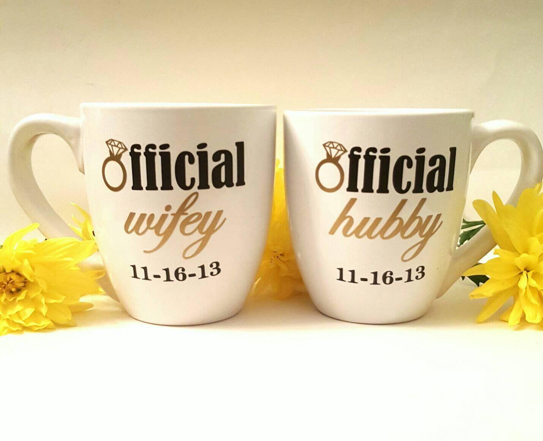 Wedding Engagement Gift: Couples Mugs/ Engagement Mug/ Engagement Gift/Wedding