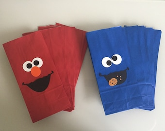 Elmo & Cookie Monster Treat/Favor Bags