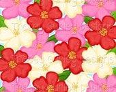 Cherry Blossom digital paper, preppy digital paper, cherry blossom art, digital print, tropical digital paper, invitation art