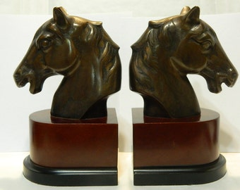 Vintage Horse Bookends
