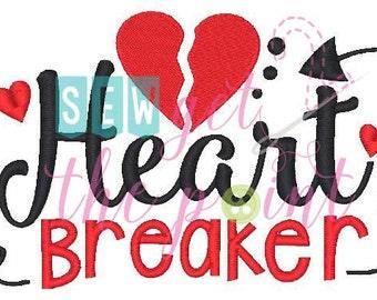 Heart Breaker Valentine's Embroidery File