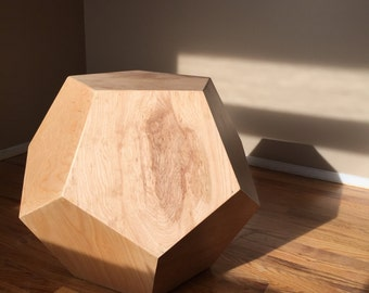 Dodecahedron Table - Birch