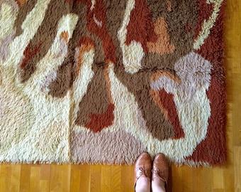 Orange Shag Area Rugs shag rug | etsy