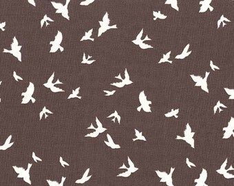 Michael Miller 0.5m 100% Cotton Fabric. Flight Taupe. DC6136-TAUP-D