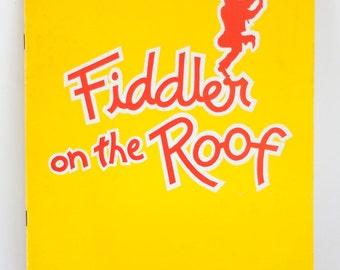 Vintage Fiddler on the Roof New York Theater Program Herschel Bernardi Souvenir