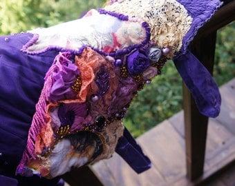 Purple summer,Bohemian romantic dreamy dress,alternative wedding dress, lovely,fairy,purple dress,gypsy,hippie reworked ,long boho dress