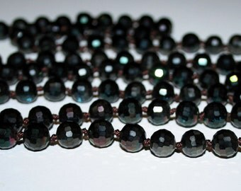 10 mm Faceted Crystal beads.