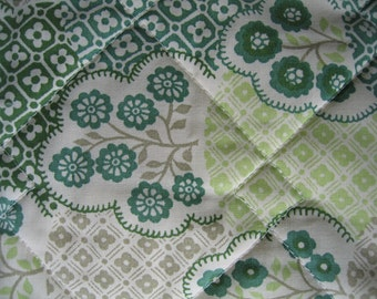 Green Quilted Bedspread 1980s